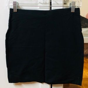 Staple-- black mini jersey skirt